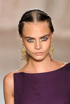 Marchesa's 'India in the 1960s' Beauty Look, Spring 2013