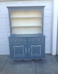 French Provincial vintage hutch