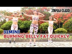 AEROBIC DANCE l 32 Mins - Burning Stubborn Belly Fat Quickly l Zumba Class - YouTube Burn Belly Fat, Lose Belly, Aerobics Workout, Stubborn Belly Fat, Workout For Beginners, Zumba, How To Lose Weight Fast, At Home Workouts, Weight Loss