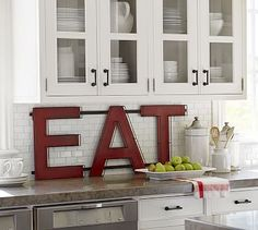 Red Eat Sign #potterybarn
