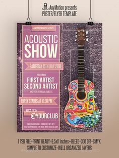 Acoustic Show Flyer | Poster - Clubs & Parties Events
