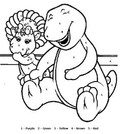 printable barney pictures | Barney Coloring Pages Free Printable ...