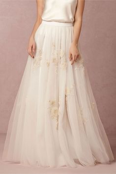 Isabel Skirt and Perpetuity Camisole in Bride Wedding  Dresses at BHLDN  #WishBigWinBigGiveaway #wedding #registry