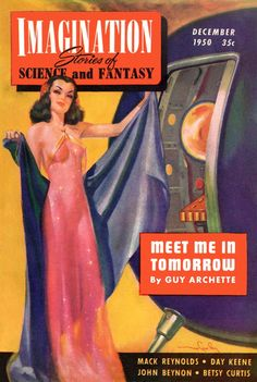 HAROLD W. McCAULEY - art for Meet Me In Tomorrow by Guy Archette - Dec 1950 Imagination, Stories of Science and Fantasy