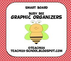 SMART BOARD:  graphic organizers. The following eight graphic organizers are included with this packet: venn diagram, chart to compare different stories, T-Chart, character traits, cause & effect, KWL, fact vs. opinion, and sequence.  On sale for $2.40 through May 8th.