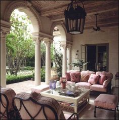 ~gorgeous outdoor room designed by Bunny Williams