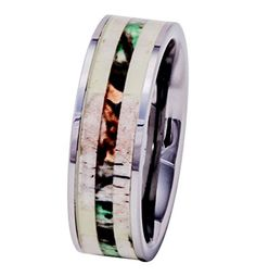 PCH Jewelers Deer Antler Ring Tungsten with Camo Wood Inlay Mens Wedding Band Comfort Fit Unusual Wedding Rings, Custom Wedding Rings, Wedding Rings For Women, Wedding Men, Rings For Men, Antler Wedding, Camo Wedding, Wedding Stuff, Wood Inlay Wedding Band