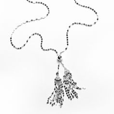 """Southern Gates 32"""" Double Tassel Necklace in Sterling Silver  #southerngates #southerngatesjewelry #sterlingsilverjewelry #southern #silver #silverjewelry"""
