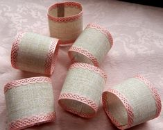 Items similar to Napkin Rings Pink and Tan Wedding Home Table Decor Bridal Shower Baby Girl Shower Birthday Summer Beige/Pink Rustic Country Gift Set of 25 on Etsy Girl Shower, Shower Baby, Baby Shower Napkins, Tan Wedding, Custom Napkins, Sweet 16 Birthday, Pink Ring, Wedding Napkins, Napkin Rings