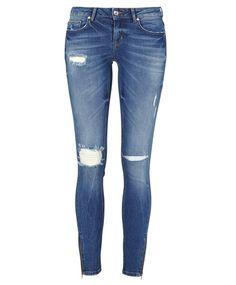 Kristen jeans med glidelås 499.00 NOK, Skinny jeans og Slim jeans - Gina Tricot