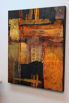 """Daily Painters Abstract Gallery: Mixed media abstract painting """"Headlines"""" by Colorado Mixed Media Abstract Artist Carol Nelson Mixed Media Canvas, Mixed Media Art, Modern Art, Contemporary Art, Original Art, Original Paintings, Picasso Paintings, Art Painting Gallery, Sky Painting"""