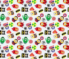 Super Minion fabric by michellesaunders on Spoonflower - custom fabric