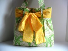 Large Bow Handbag Made in Amy Butler Fabric by fromnancy on Etsy, $58.00