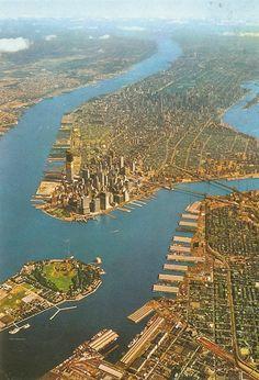 Aerial view New York Manhattan