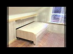 Paneling the end of the hidden pull out knee wall bed - YouTube