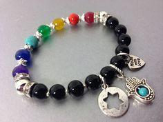 Seven Chakras Hamsa Star of David Bracelets Real by TheArtOfFaith