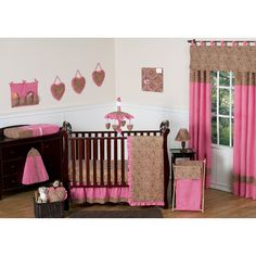 Sweet Jojo Designs 11pc Cheetah Crib Set - Pink