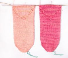 Two-at-a-Time Socks on a Magic Loop: The Heel Part2