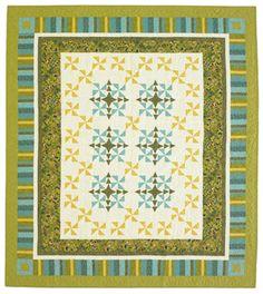 Free Bed Quilt Patterns pinwheels with sashing