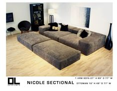 NICOLE SECTIONAL- this is the couch I want