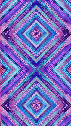 Image shared by Adriána. Find images and videos about art, wallpaper and color on We Heart It - the app to get lost in what you love. Unicornios Wallpaper, Colorful Wallpaper, Cellphone Wallpaper, Pattern Wallpaper, Wallpaper Backgrounds, Chevron Wallpaper, Purple Wallpaper, Tribal Patterns, Print Patterns