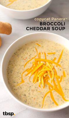 A homemade, copycat version of the very popular Panera Bread™ broccoli cheddar soup.