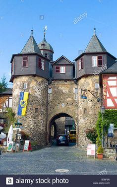 Burgtor Castle Gate, Braunfels, Marktplatz Square With Half ...