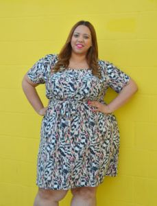 870400a61bf308 OOTD  Plus Size Midi Length Dress from Swak Designs