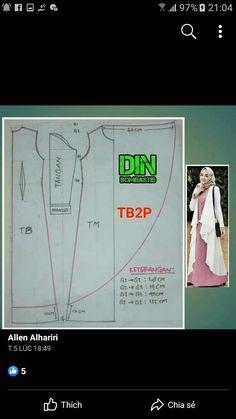 Outer hijab Source by ninksurya dresses muslim Long Dress Patterns, Tunic Sewing Patterns, Blouse Patterns, Clothing Patterns, Batik Fashion, Fashion Sewing, Abaya Fashion, Fashion Dresses, Fanni Stitch