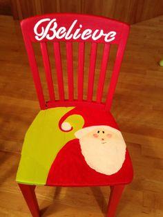 Painted Santa chair