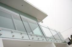 Patch Fitting Frameless Glass Balustrade/Glass Railing (PR-1012)