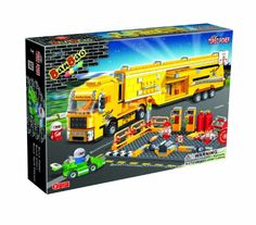 BanBao Racer Maintenance Truck Toy Building Set, 660-Piece