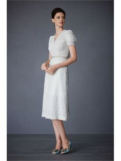 Silk V-Neckline Beaded Waist Tea-Length Special Occasions Dress