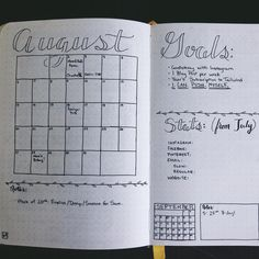 Happy August, friends! I'm not ready to think about summer being over... I've been really enjoying the sun this year.  ⠀ ⠀ Today I worked on my bullet journal... here's August's two-page spread! It's all ready to get scribbled in. ⠀ ⠀ P.S... I'll be sharing about bullet journaling on my blog this Thursday! Stay tuned! ☺️