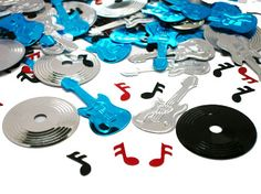 Rock n roll wedding center pieces | Rock and Roll Music Confetti, Rock and Roll Confetti