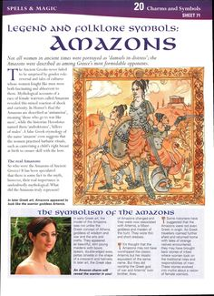 Legend and Folklore Symbols: Amazons