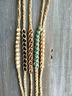 Beaded Hemp Wish Friendship Bracelet More by psihandmadeit