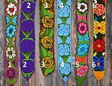 Floral Mexican Belts / Sash, Multiple colors, Wrap Around Hippie Boho Peasant