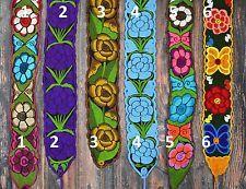 Floral Mexican Belts / Sash, Multiple colors, Wrap Around Hippie Boho Peasant