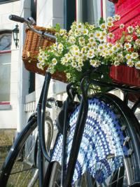 in love with dutch crocheted bike skirts...