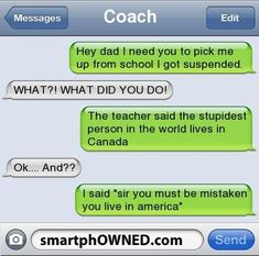Hh - Autocorrect Fails and Funny Text Messages - SmartphOWNED - Funny Texts - Funny Quotes Very Funny Texts, Funny Texts Jokes, Text Jokes, Funny Text Fails, Cute Texts, Autocorrect Fails Funny, Epic Texts, Funny Shit, Funny Stuff
