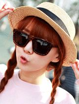 brown animal printed frame retro sunglasses  CODE: QN27764  Price: SG $45.60 (approx US $36.77)