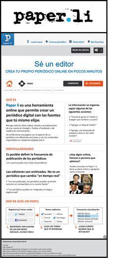 Trabajo para la Universidad de Málaga, facultad de Periodismo, Edición Digital, sobre Paper.ly. Por Laura García #ed1213