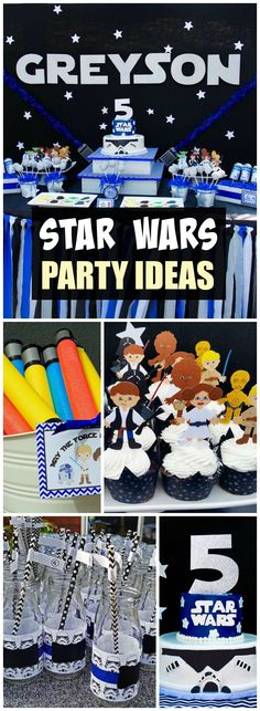 How cool is this Star Wars party, love the cake! See more party ideas at CatchMyParty.com!