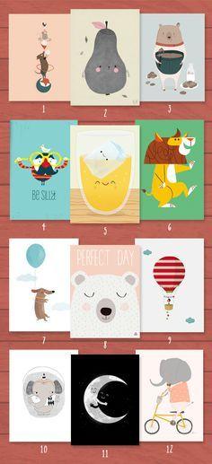 Jolies affiches pour décorer une chambre d'enfant