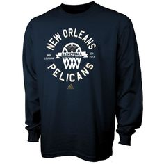 New Orleans Pelicans adidas Youth Classic Basket Long Sleeve T-Shirt - Navy  Blue 8e1254fc9