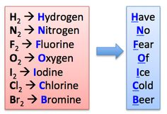 diatomic elements - Google Search