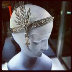 Tiffany headpiece worn by Carey Mulligan in the Great Gatsby.