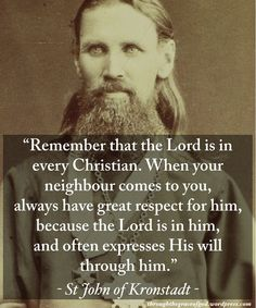 """136 Likes, 2 Comments - ThroughtheGraceofGod:Orthodoxy (@throughthegraceofgod) on Instagram: """"""""Remember that the Lord is in every Christian. When your neighbour comes to you, always have great…"""""""