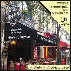Joues et lambrequin de store banne avec marquages #jouestore #joue #lambrequin #storebanne #marquagelambrequin #flockage #marquagepeinture #flockagelambrequin